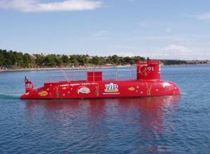 Podmornica za razgledavanje Pašmanskog kanala - Apartmani Udovičić